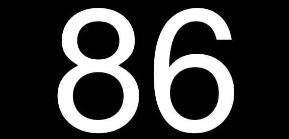 86 restaurant term